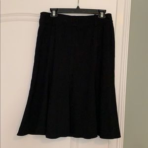 Womens Larry Levine Stretch Skater Midi Skirt